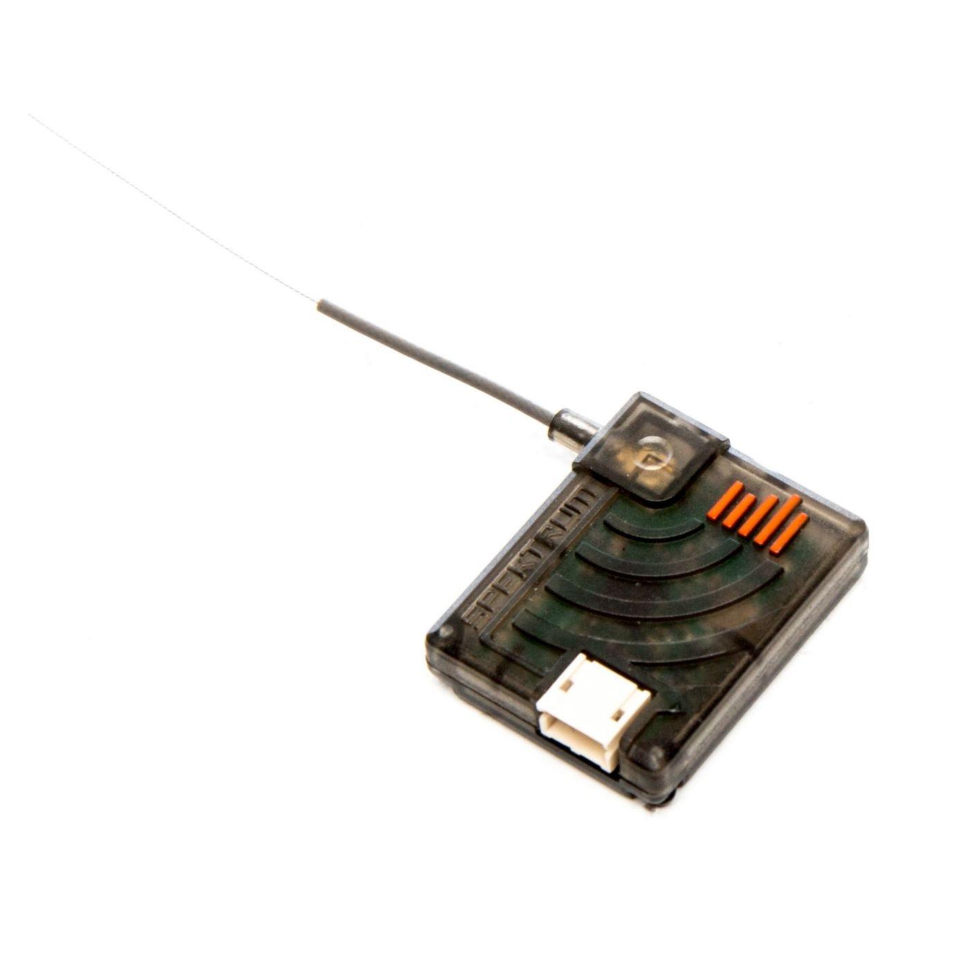 Spektrum DSMX Remote RC Receiver con antena posicionable de 2 vías y 24, extensión, negro
