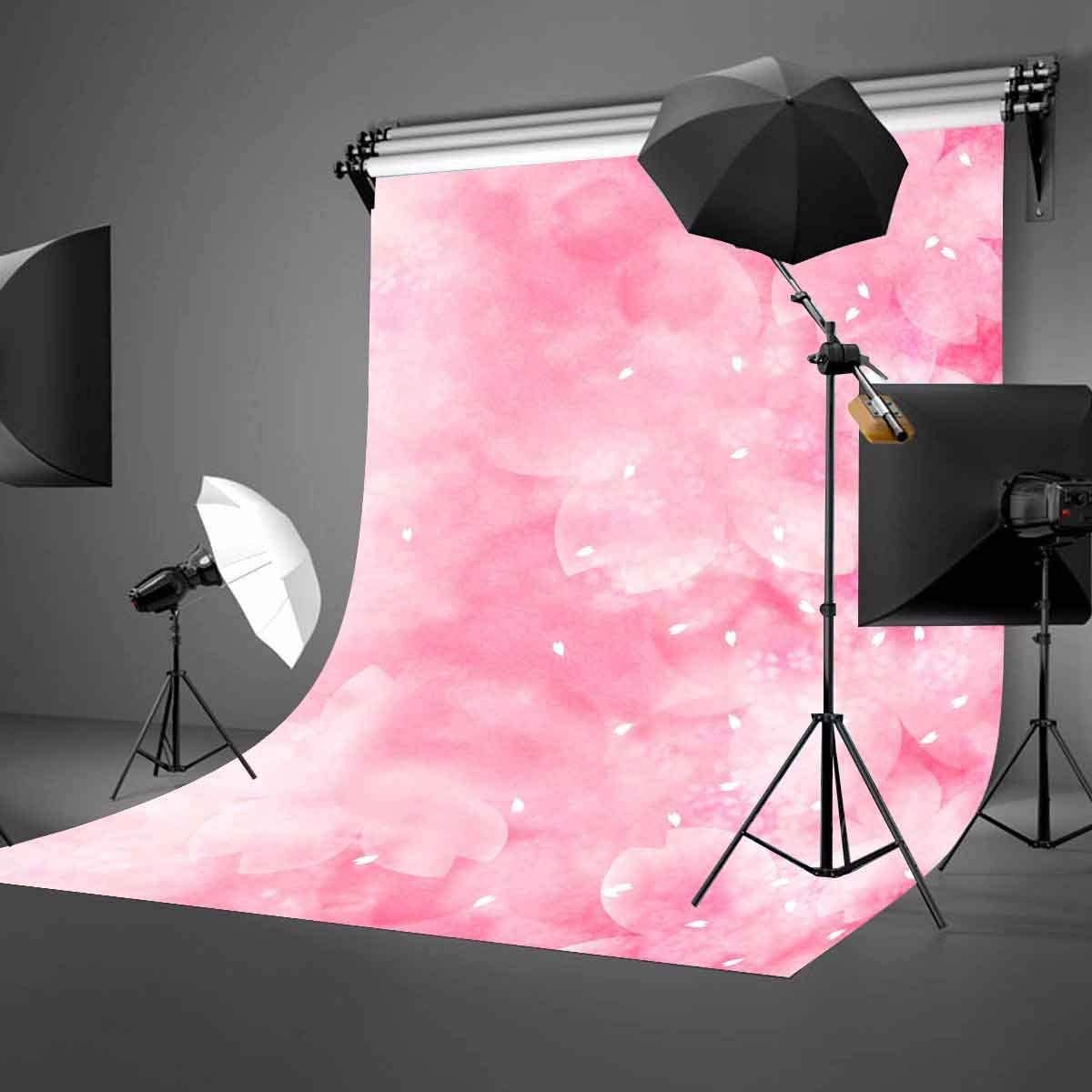 GoEoo 5X7ft Romantic Warm Backdrop Millennial Pink Flowers Blooming Photography Background Girls Children Favorite Theme Background Shooting Props LYGE561