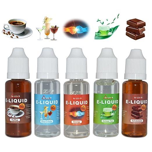 302 opinioni per Salcar liquido, una confezione (5 flaconi da 20 ml) per sigarette