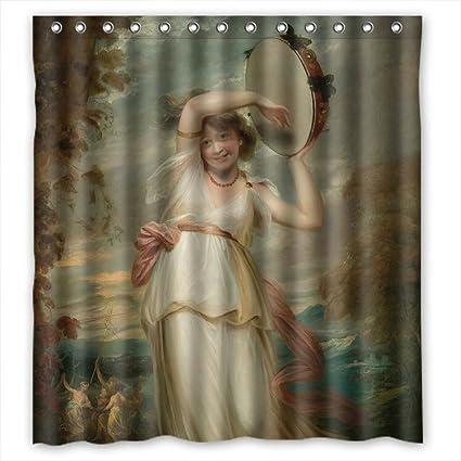 Amazon.com: European Court Art Painting Bath Curtains Polyester Best ...