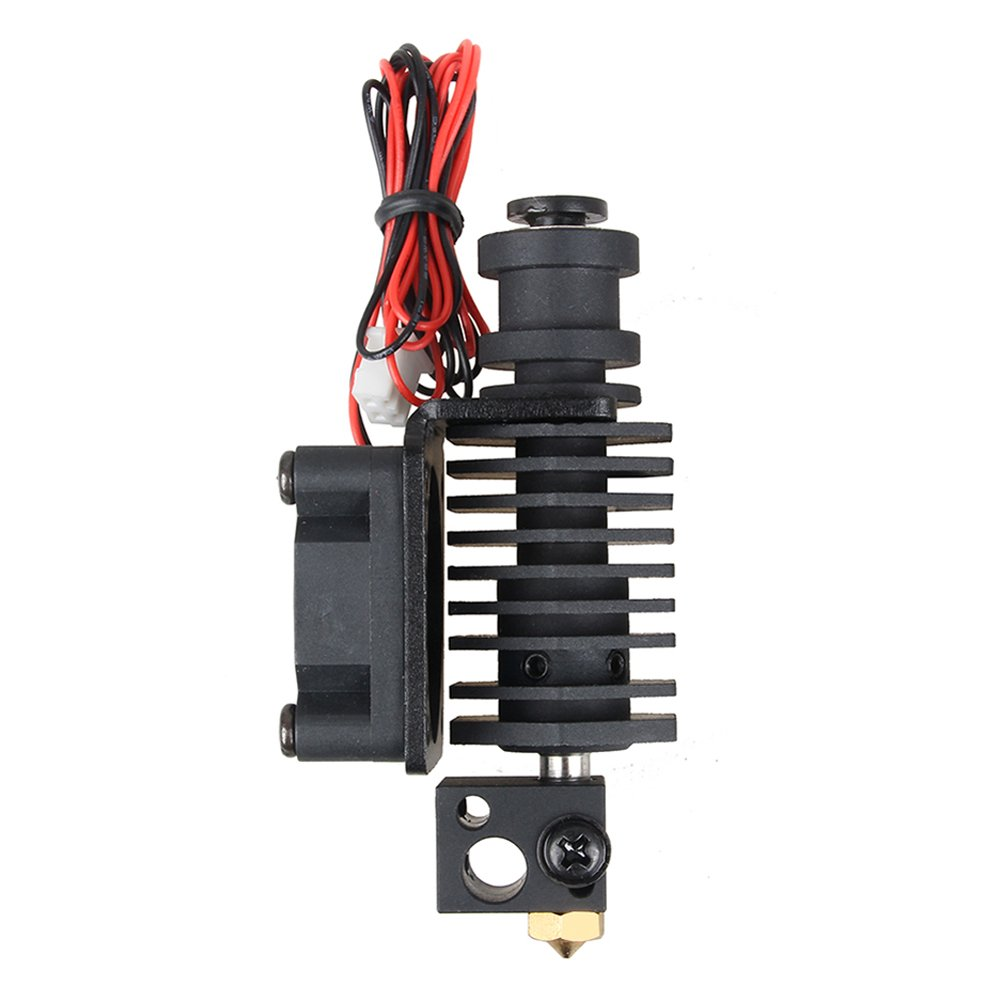 Wangdd22 3D Printer Parts Improved 3D V6 Hexagon Universal Hotend Kit 0.4mm//1.75mm Straight Through Throat Extruder Hot End Kit with Fan Kit