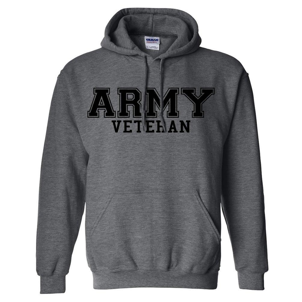 Army Veteran BLACK logo Hooded Sweatshirt PA-1465