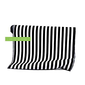 Black White Striped Table Runner Cotton By We Can Package