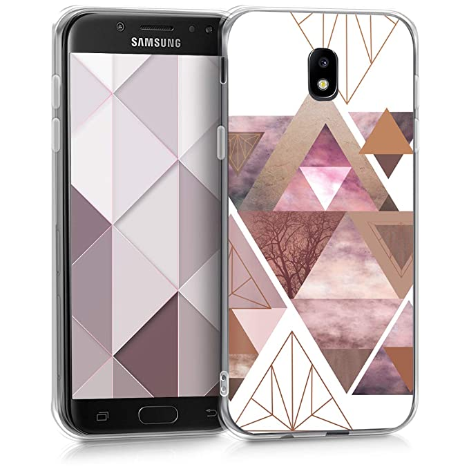 kwmobile Samsung Galaxy J5 (2017) DUOS Hülle - Handyhülle für Samsung Galaxy J5 (2017) DUOS - Handy Case in Rosa Rosegold Wei