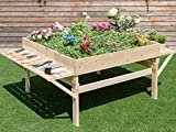 K&A Company Wood Garden Raised Durable Planter Bed Outdoor Fir Gardening Plant Home Patio New Yard Flower Wooden