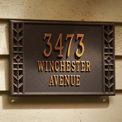 Personalized Arts And Crafts House Sign - Custom Indoor/Outdoor Address Plaque - Wall