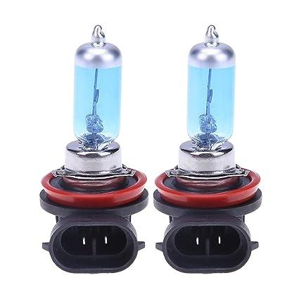 Starnearby - 2 bombillas LED de 12 V 55 W H8 para faros antiniebla de coche