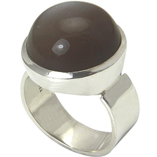 dea8595e5aa5 piedra de luna anillo plata oro herrero trabajo (Plata de ley 925) – Anillo