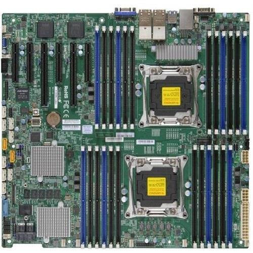 Super Micro X10DRC-T4+-O Dual LGA2011/ Intel C612/ DDR4/ SATA3&SAS3&USB3.0/ V&4GbE/ Enhanced EATX Server Motherboard