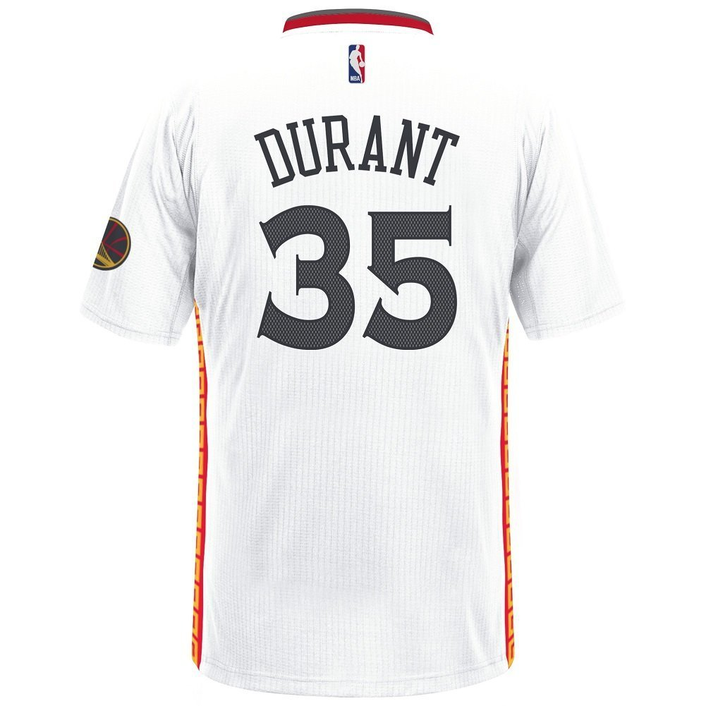 9add2a440 Amazon.com   adidas NBA Men s-Kevin Durant  35-Golden State Warriors-Swingman  Jersey-Chinese New Year-White   Sports   Outdoors