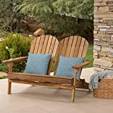 Great Deal Furniture Muriel Outdoor Natural Finish Acacia Wood Adirondack Loveseat Review