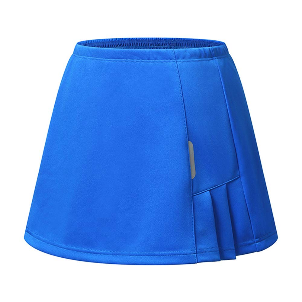 RainbowTree Women's Active Performance Skort Casual Pleated Skirt for Running Tennis Golf Workout (Blue, XL) by RainbowTree