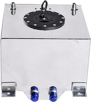 NEW 5 Gallon silver polish Aluminum Racing//Street Fuel Cell Tank/&level Sender