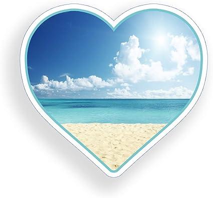 Beach Bumper Sticker Ocean Window Decal Anchor Heart Vinyl Decal