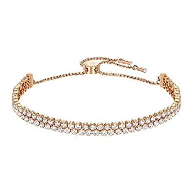 Swarovski Bracelet Subtle Double, blanc, plaqué or rose  Amazon.fr ... f6a38ceee137