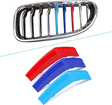 For 6 Series F06 F12 F13 2016-2018 M Colour Front Grille Grill Cover Insert Trim Clips 9 Grilles