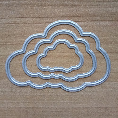 Cloud Metal Cutting Dies for Card Making, NOMSOCR Cut Die Metal Stencil Template Mould for DIY Scrapbook Embossing Album Paper Card Craft Birthday Festival Decoration (Cloud) by NOMSOCR (Image #2)