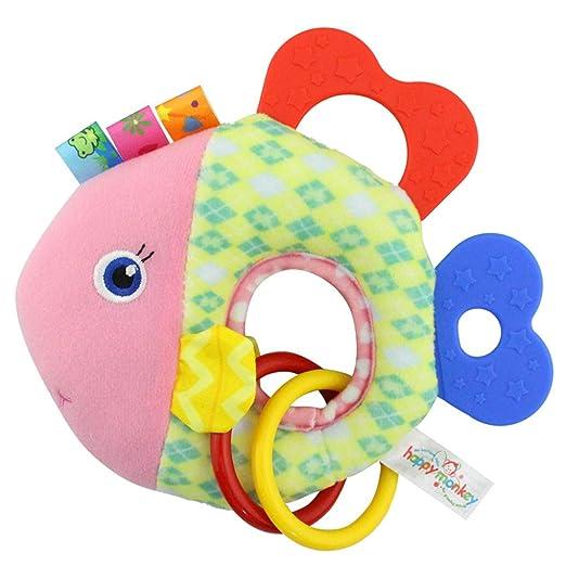 Juguete de peluche de dibujos animados de animales juguete Mono feliz de peluche juguetes de animales Juguete de niños con sonido Mancuernas infantiles ...