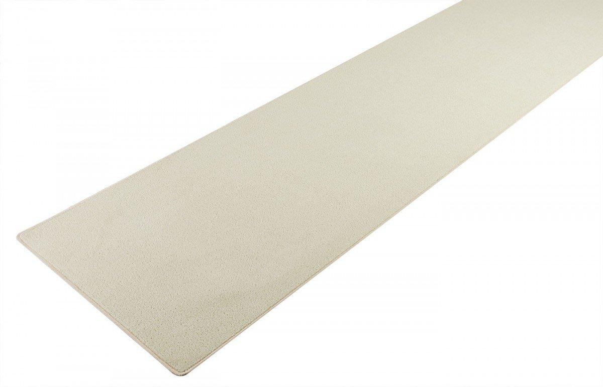 havatex Velours Teppich Trend Läufer - Farbe wählbar | Schadstoffgeprüft Pflegeleicht | Robust & Strapazierfähig | Flur Diele Eingang Wohnzimmer Büro, Farbe:Creme, Größe:100 x 250 cm