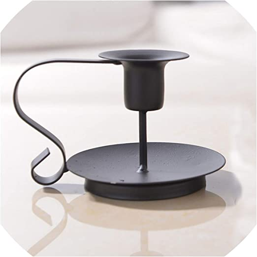 Retro Iron Taper Candle Holder Candlelight Dinner Decorations Candelabrum Home