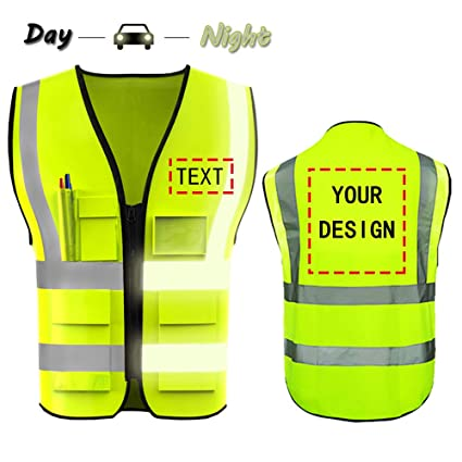 Safety Clothing High Visibility Mesh Reflective Safety Vest Logo Printing Free Shipping