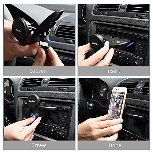 iVoler Porta Cellulare Auto per CD Slot-Porta Cellulare Magnetico Universale da Auto per CD Slot, Supporto Auto Smartphone **360 Gradi di Rotazione** per iPhone 7 / 7 plus / 6 / 6plus / 5S / 4, Samsun