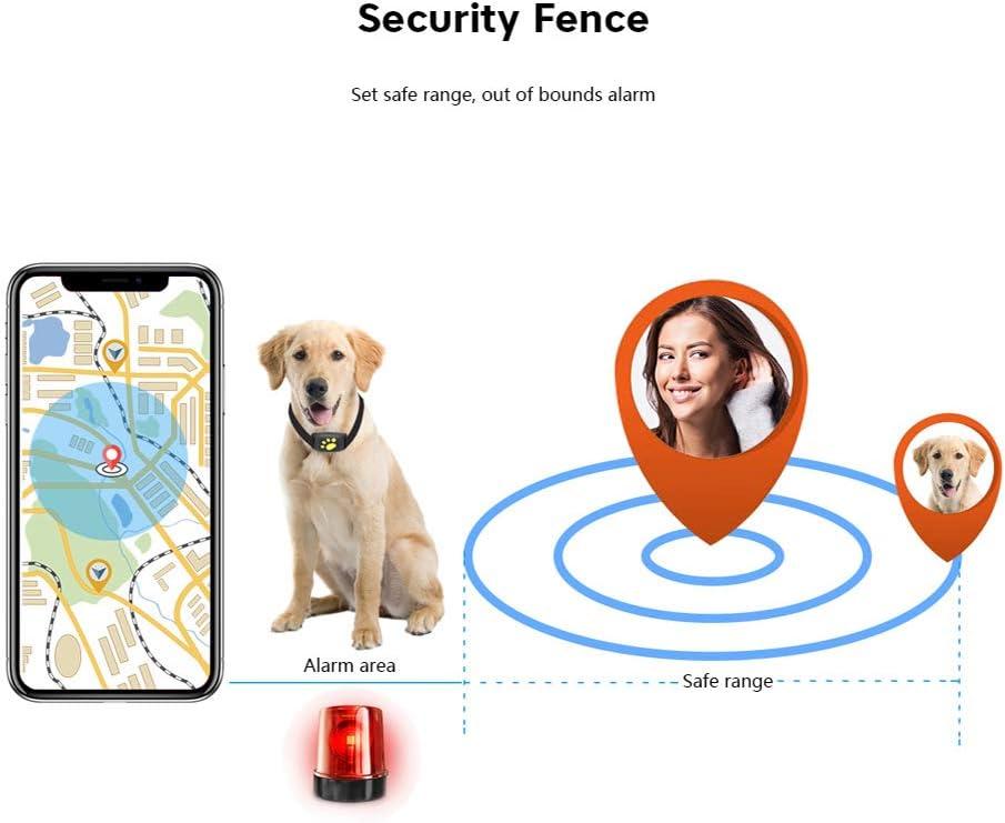 FANMU Smart Tag per animali domestici Pet Tracker GPS Cane Collare per gatto Resistente allacqua GPS Funzione di richiamata Ricarica USB Tracker intelligente Tracker Bluetooth per cani