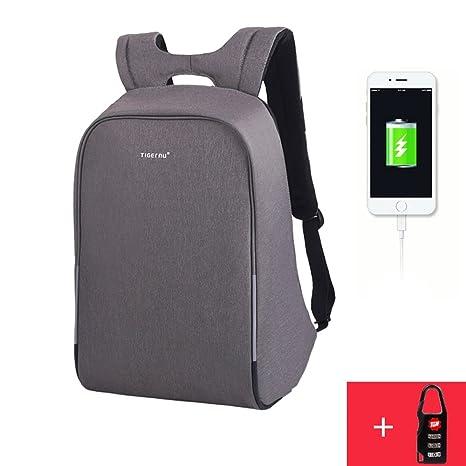 Mochila Para Computadora Portátil, Mochila Antirrobo De Seguridad Mochila Impermeable Con Interfaz De Carga USB