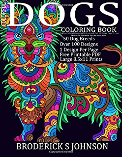 Amazon.com: Creative Haven Dazzling Dogs Coloring Book (Adult ...