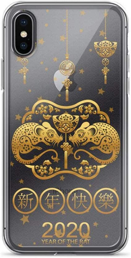 Compatible for iPhone 7//8 Cases Chinese Lunar New Year of The Rat Colorful Mouse 2020 Anti Bumps Scratches