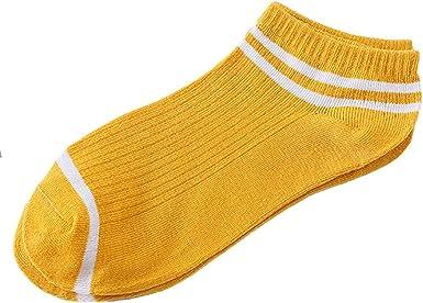 5Pair Cheap Unisex Socks Comfortable Stripe Cotton Sock Slippers Short Ankle UK