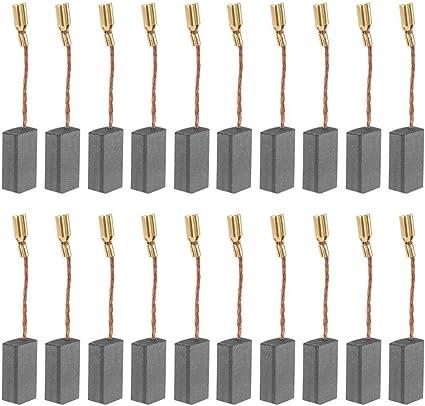 Gran cepillo de carbón conductor de 20 piezas reemplazable para taladro de motor eléctrico 100 (tamaño 5 * 8 * 16 mm)