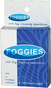 Foggies Anti-Fog Cleaning Towelette Wipes for Goggles, Glasses and Masks