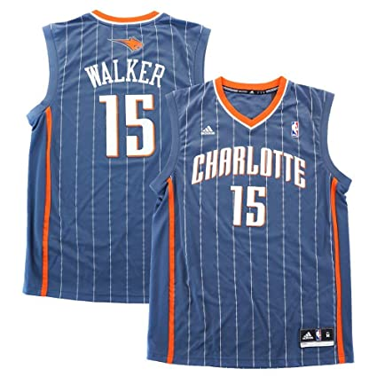 ea87869432e adidas Kemba Walker Charlotte Bobcats NBA Men s Grey Official Replica  Jersey ...
