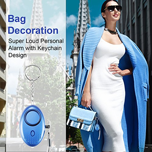 TOODOO 5 Pack 130 db Safesound Personal Security Alarm Keychain