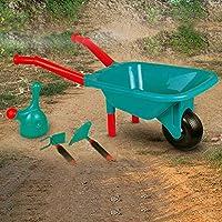 Ywoow Pretend Play Kids Wheelbarrow & Tool Belt Bundle for Childrens Gardening US Warehouse Sending