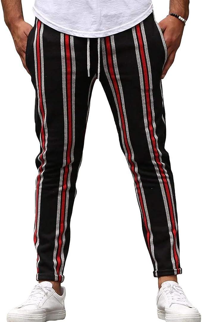 hibote Pantalones de Chándal Moda Hombres Pantalones Urbanos ...