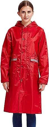 AOIF LLMY Mens Waterproof Rain Coat Long Hooded Outdoor Double face mask 2056
