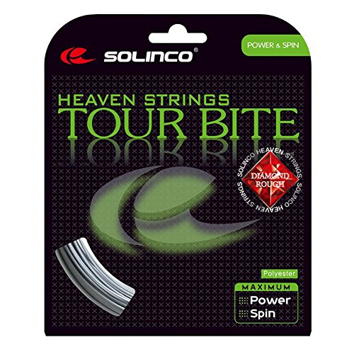 Solinco Tour Bite Diamond Rough Tennis String Set-16L-Silver