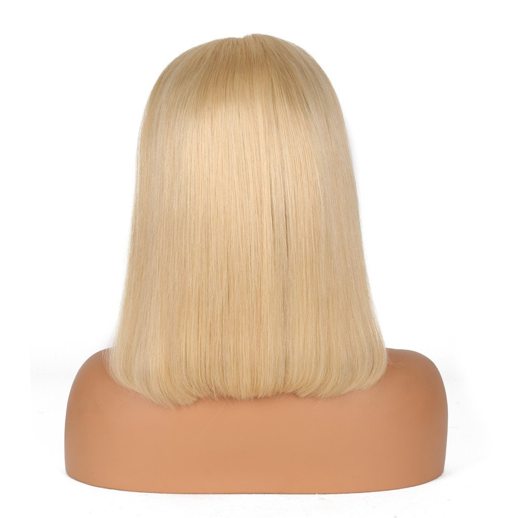 Nobel Hair Glueless Lace Front Blond Human Hair Bob Wigs With Baby Hair Pre Plucked 613 Blonde Short Wig Brazilian Virgin Hair 12Inches by Nobel Hair (Image #3)