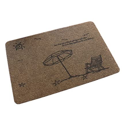 Lovely Ultrathin Non Slip Doormat Rug/Carpet Decor Home Rug, Brown Beach