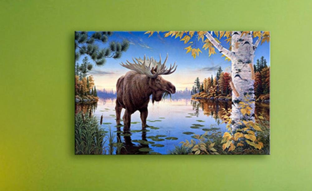 MXXYY LED Canvas Art Print Wall Decoration - Animal