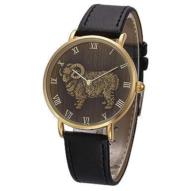 Rcool Relojes suizos relojes de lujo Relojes de pulsera Relojes para mujer Relojes para hombre Relojes deportivos,Reloj de cuarzo con banda de cuero.
