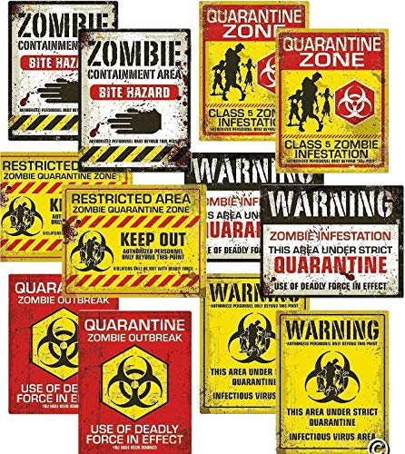 Fun Express Zombie Halloween Party Posters | 2-Pack (12 Count) | Great for Zombie-Themed Parties ()