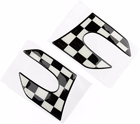 8 3D Side Scuttle Lamp Light Pattern Fender Panel Frame Cover Sticker Trim for Mini Cooper F55 Hardtop F56 Hatchback