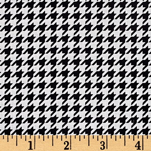 Maywood Studio 0492423 Kimberbell Basics Houndstooth Black Fabric by The Yard,