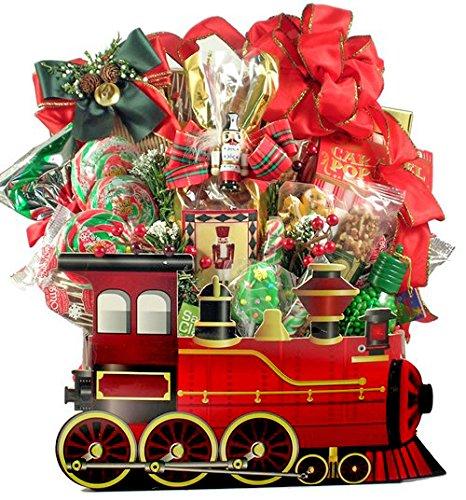 Holiday Train Gourmet Gift Basket for Christmas (Christmas Gift Hamper)