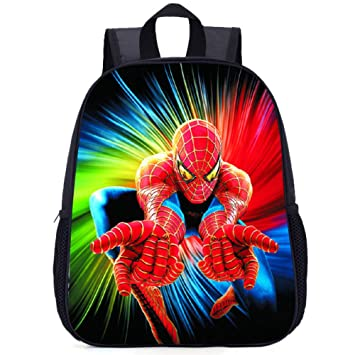 GWZZ Mochila Escolar Primaria Niño/Niña 3-10 Años Spiderman Patrón Impermeable Nylon Mochila,Spiderman(F)-35 * 27.5 * 10.5cm: Amazon.es: Hogar