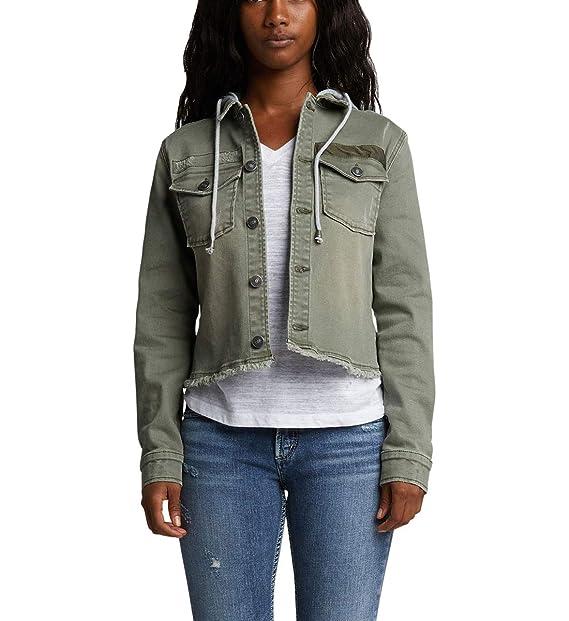 Amazon.com: Silver Jeans Co. Chaqueta de sarga para mujer ...