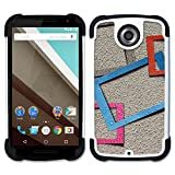 Motorola NEXUS 6 Moto X Moto X Pro - Hybrid Heavy Duty Armor Shockproof Silicone Cover Rugged case (Textured Picture Frames Digital Art)